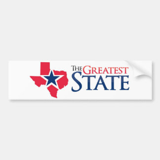 The Greatest State Bumper Sticker