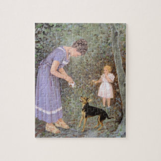 The Greedy Small Dog by Guido Marzulli, Realism Jigsaw Puzzle