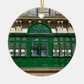 The green balcony ceramic ornament