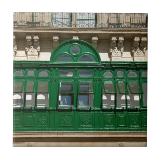 The green balcony ceramic tile