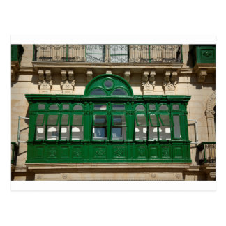 The green balcony postcard