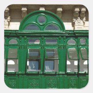 The green balcony square sticker