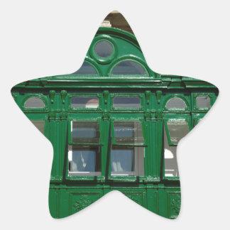 The green balcony star sticker