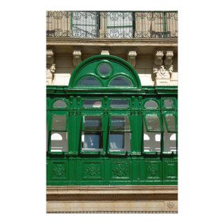 The green balcony stationery