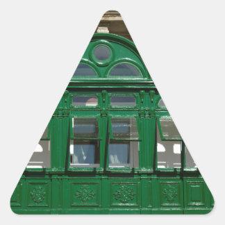 The green balcony triangle sticker