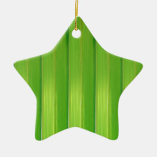 The Green bamboo Ceramic Star Decoration