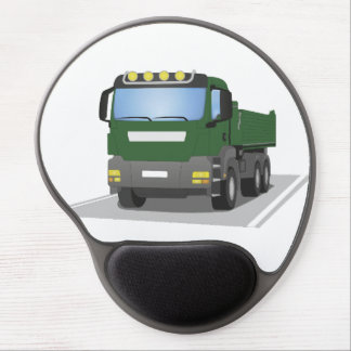the Green building sites truck Gel Mouse Pad
