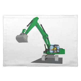 the Green chain excavator Placemat