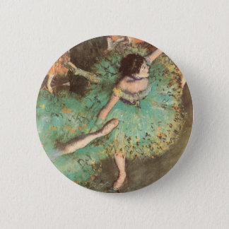 The Green Dancer by Edgar Degas, Vintage Ballet 6 Cm Round Badge