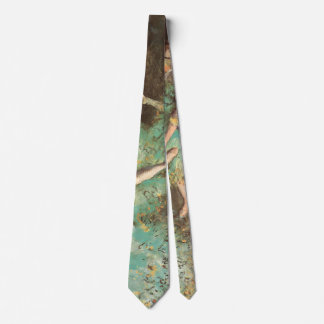 The Green Dancer by Edgar Degas, Vintage Ballet Tie