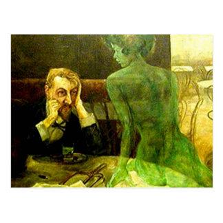 The Green Fairy: Absinthe Postcard