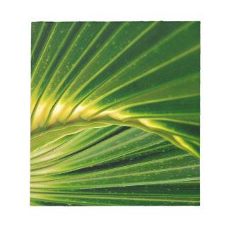 The green fan notepad