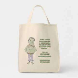 The Green Gore Monster Grocery Tote Bag