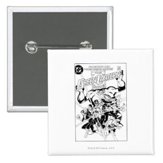 The Green Lantern Corps, Black and White 15 Cm Square Badge