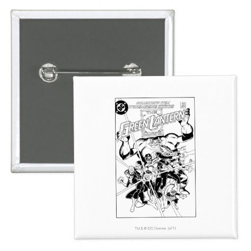The Green Lantern Corps, Black and White Pin
