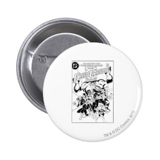 The Green Lantern Corps Black and White Button
