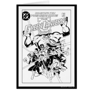 The Green Lantern Corps, Black and White Greeting Card