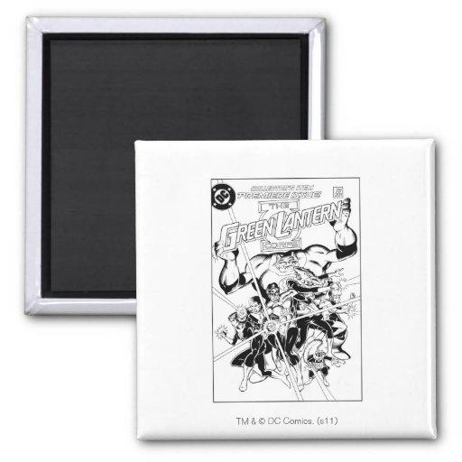 The Green Lantern Corps, Black and White Fridge Magnet