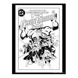 The Green Lantern Corps, Black and White Postcard
