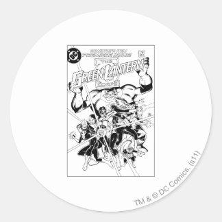 The Green Lantern Corps, Black and White Round Sticker