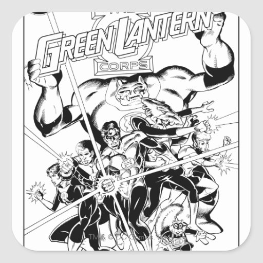 The Green Lantern Corps, Black and White Square Stickers