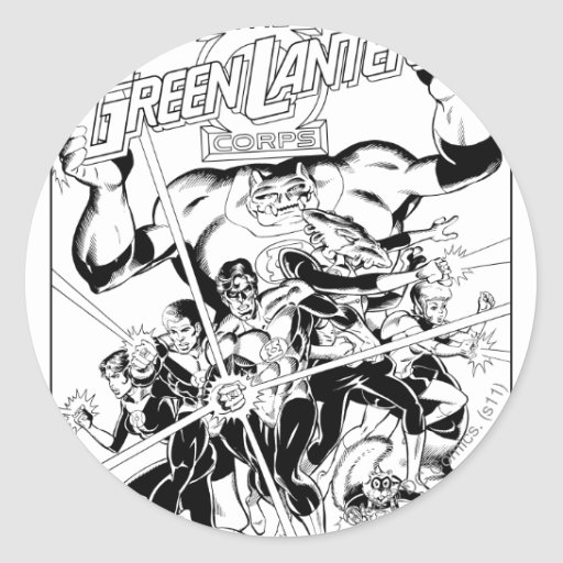 The Green Lantern Corps, Black and White Sticker