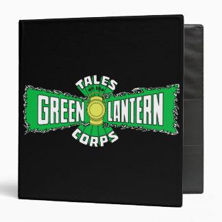 The Green Lantern Corps - Green Logo 3 Ring Binders