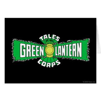 The Green Lantern Corps - Green Logo Greeting Card