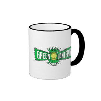The Green Lantern Corps - Green Logo Ringer Mug