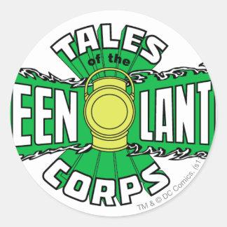 The Green Lantern Corps - Green Logo Round Sticker