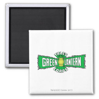 The Green Lantern Corps - Green Logo Square Magnet