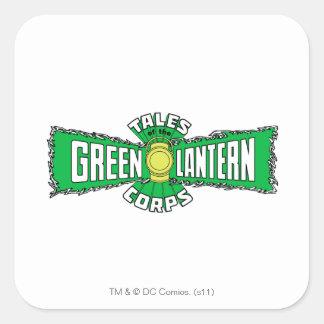 The Green Lantern Corps - Green Logo Square Sticker