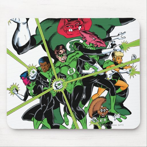 The Green Lantern Corps Mouse Pads