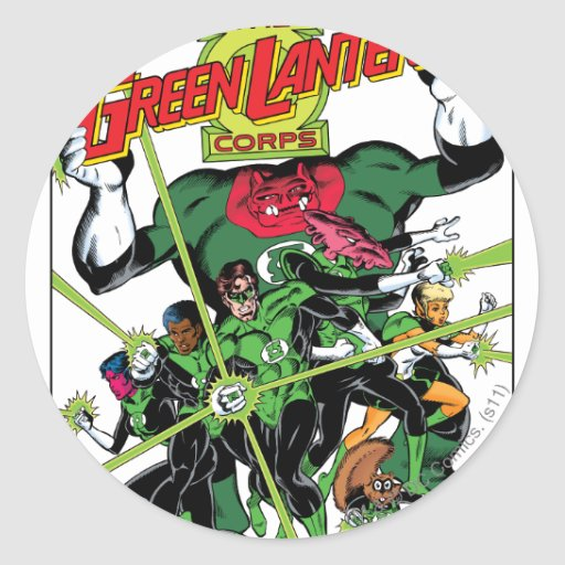 The Green Lantern Corps Stickers