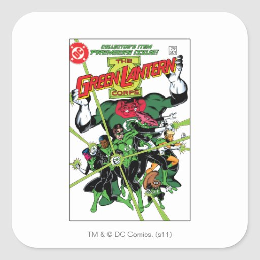 The Green Lantern Corps Square Stickers