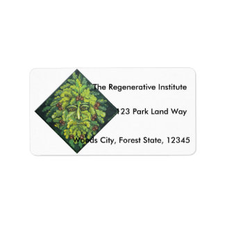 The Green Man Address Labels