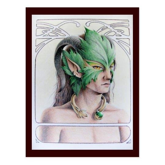 The Green Man Postcard