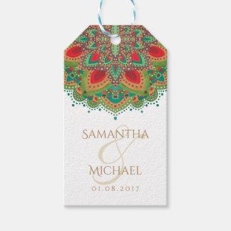 The Green Mandala Wedding Thank You Favor Gift Tag