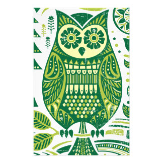 The Green Owl Stationery Design