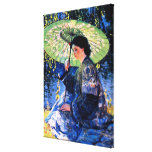The Green Parasol, a Guy Rose Painting Stretched Canvas Prints