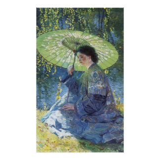 The Green Parasol, Guy Rose Poster