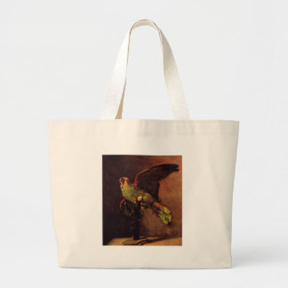 The Green Parrot by Vincent van Gogh Jumbo Tote Bag