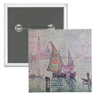 The Green Sail, Venice, 1904 15 Cm Square Badge