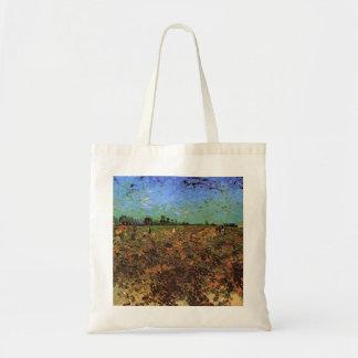 The Green Vineyard by Vincent van Gogh Tote Bag