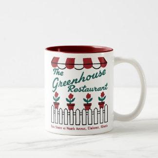 The Greenhouse Restaurant, Elmhurst, Illinois Two-Tone Coffee Mug