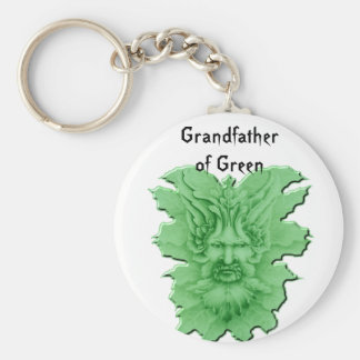 The Greenman Basic Round Button Key Ring