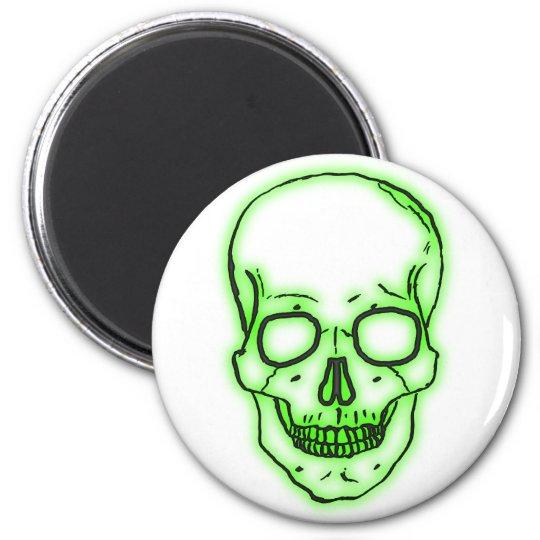 the Greens head skull green skull Magnet