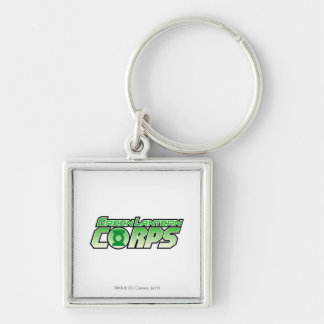 The Gren Lantern Corps Logo 2 Silver-Colored Square Key Ring