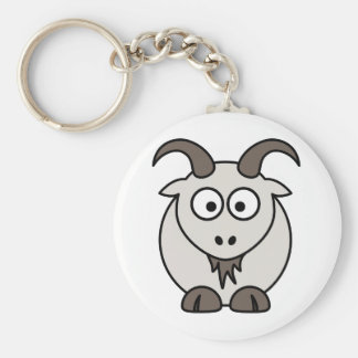The Grey Goat selection Basic Round Button Key Ring