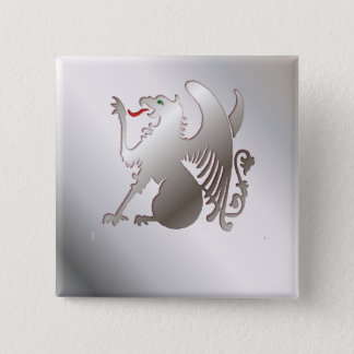 The Griffin 15 Cm Square Badge
